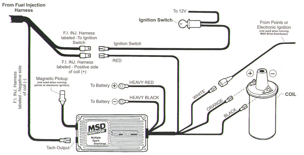mallory comp 9000 distributor to msd ignition wiring