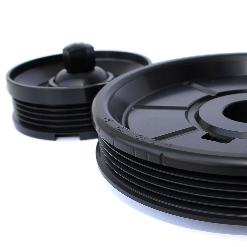serpentine belt system  oe style pulley anodized black