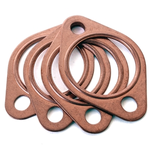 "1882 Copper Exhaust Gaskets 1 1/2"" (set of 4)"