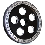"1884 7"" Billet Santana Style Crankshaft Pulley (Black & Silver)"