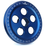 1897 7'' Billet Santana Style Crankshaft Pulley (Blue)
