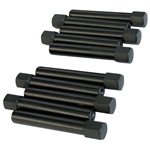 1969 Extended Valve Cover Nuts - Black (set of 10)