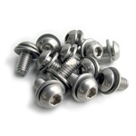 2136 6mm Sheet Metal Screws - Stainless Steel (set of 12)