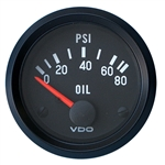 "2330 VDO Cockpit Black - 2 1/16"" Cockpit Electric Oil Pressure Gauge"