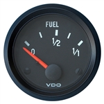 "2333 VDO Cockpit Black - 2 1/16"" Cockpit Electric Fuel Gauge"