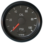 "2418 VDO Cockpit Black - 2 1/16"" Cockpit Mechanical Oil Pressure Gauge"