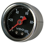 2421 Direct Mount Mini Gauges- 1-100 PSI (black with chrome bezel)