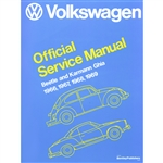 2861 Volkswagen Beetle and Karman Ghia Service Manual 66-69