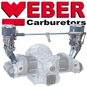 Bug T1 Air Filter for Solex 40 Kadron 40 Carburettors Round Chrome Pair Empi