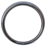 3437 Flat 4 Stainless Headlight Ring - fits Type-1 '67-79, Type-2 '68-79 and All Things (each)