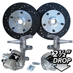 4177 Dropped Disc Brake Kit (Ball Joint) with 5 Lug Porsche Alloy bolt pattern