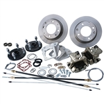 4198 Rear Disc Brake Kit with Parking Brakes, fits IRS '69-later - Late 4 Lug bolt pattern