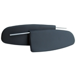 5757 Sunvisors - 58-64 Black (pair)