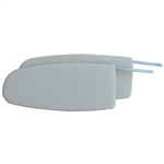 5760 Sunvisors - 58-64 White (pair)
