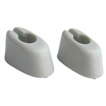 5765 Sunvisor Mounts - 65-67 White (pair)