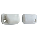 5766 Sunvisor Mounts - 68-77 White (pair)