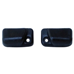 5808 Sunvisor Mounts - 68-77 Black (pair)