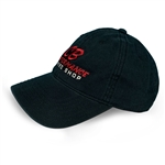 7978 Black Relaxed Adjustable Hat - Red Speed Shop Logo