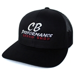 7981 Black Mesh Hat - Speed Shop Logo (Snapback)