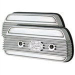1704 Fil-Star Valve Covers - for use w/10mm rocker studs - Fully Polished