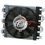 1716 Maxi Cool 6 Pass Oil Cooler w/fan (3/8'' FPT Tube Ends)