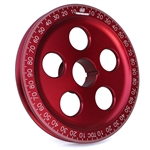 1898 7'' Billet Santana Style Crankshaft Pulley (Red)