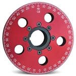 2022 6'' Santana Style Billet Crankshaft Pulley with Steel Hub (red)