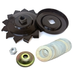2163 Alternator Pulley With Cooling Fins - Complete Kit