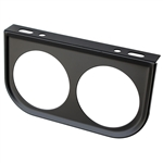 2386 Gauge Mounting Panels - Double (Black)