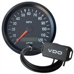 "2400 VDO Cockpit Black - 3 1/8"" Electronic Speedometer Kit"