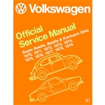2862 Volkswagen Beetle and Karman Ghia Service Manual 70-79