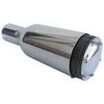 3638 Spark Arrestor Muffler - Polished Stainless Steel w/o Bracket - fits 2'' Exhaust Pipe