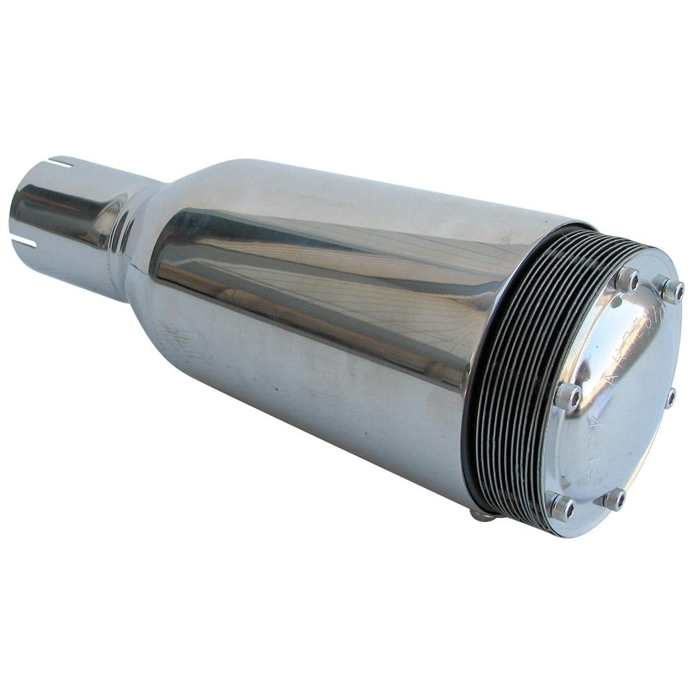 3638 Spark Arrestor Muffler - Polished Stainless Steel w/o Bracket - fits 2u0027u0027 Exhaust Pipe  sc 1 st  CB Performance & 3638 Spark Arrestor Muffler - Polished Stainless Steel w/o Bracket ...