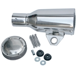 3649 Spark Arrestor Muffler - Polished Stainless Steel with Bracket - fits 2'' Exhaust Pipe