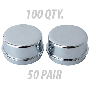 4128case Chrome Dust Caps (100 qty)