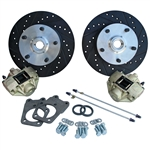 4163 Disc Brake Kit - Super Beetle to 73 1/2, 5 Lug Studs are preinstalled for 911 Alloy Wheels