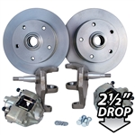 4175 Dropped Disc Brake Kit (Ball Joint) with 5 Lug Porsche Alloy bolt pattern