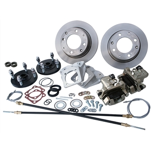 4197 Rear Disc Brake Kit with Parking Brakes, fits long swing axle, 1968 only - Late 4 Lug bolt pattern