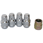 4219 Gorilla Wheel Locks (14mm Chrome) fits 5 bolt Porsche Alloy