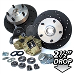 4280 Dropped Disc Brake Kit (Link Pin) with 5 Lug Porsche Alloy bolt pattern (14mm studs pressed in)