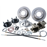 4299 Rear Disc Brake Kit with Parking Brakes, fits short swing axle to '67 - Late 4 Lug bolt pattern
