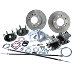 4357 Rear Disc Brake Kit with Parking Brakes, fits short swing axle to '67 - Porsche Alloy 5 Lug bolt pattern