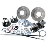 4358 Rear Disc Brake Kit with Parking Brakes, fits long swing axle, 1968 only - Porsche Alloy 5 Lug bolt pattern