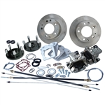 4359 Rear Disc Brake Kit with Parking Brakes, IRS '69-on - Porsche Alloy 5 Lug bolt pattern