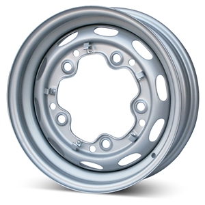 "4418 Mangels 15 x 4.5"" 5-Lug Steel Wheel (Silver Finish) OEM Quality"