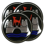 4442 Wheel Emblems - Wolfsburg Crest (Set of 4)