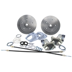 "4623 ROTOHUBâ""¢ Rear Disc Brake Kit with Parking Brakes, fits short swing axle to '67 - Porsche Alloy 5 lug bolt pattern"
