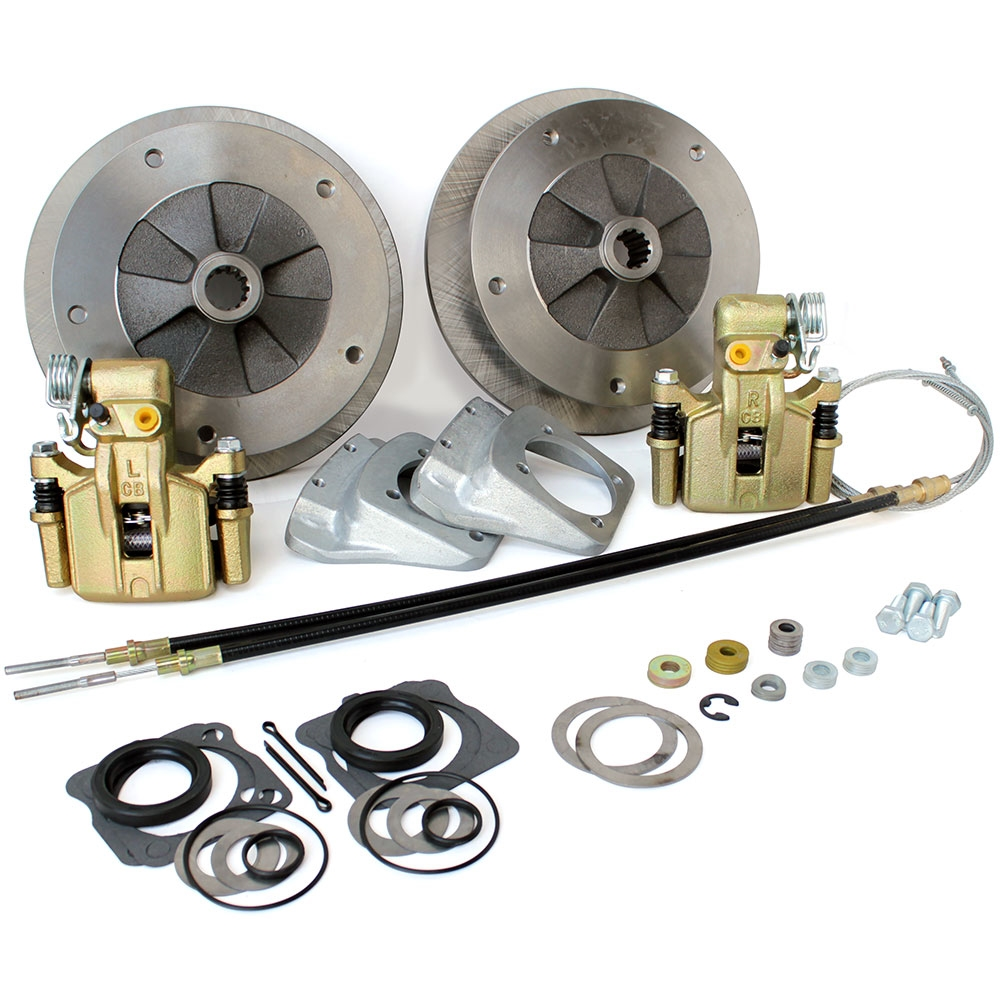 4640 Rear Disc Brake Kit with Parking Brakes, fits short swing axle to '67