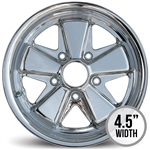 4836 Flat 4 CHROME 911 Style Wheel (5 x 130mm) 15 x 4.5""