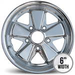 4856 Flat 4 CHROME Deep 6 911 Style Wheel